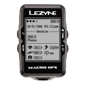 Lezyne Macro Cycle Computer With Heart Rate Monitor black